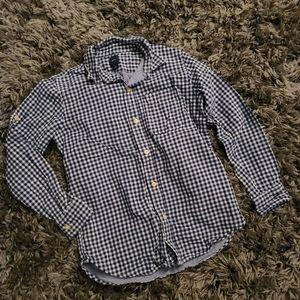 Gap Blue Checkered Plaid Button Down Shirt Boys 10